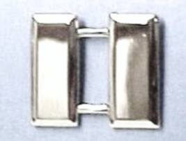 Captain Bars Fire Rescue Military Rank Insignia Pin Set Silver Plated 903 New image 2