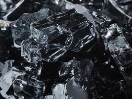 """10 Lbs of Fire Glass 1/2"""" Midnight Black Fireglass for Fireplace - $32.50"""