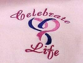Celebrate Life Pink Purple Heart MD Cancer Awareness Pink Hoodie Sweatshirt New - $31.65