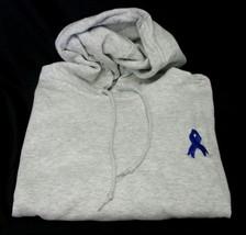 Colon Cancer Child Abuse Blue Ribbon Ash Gray Hoodie Sweatshirt Unisex S New - $31.65