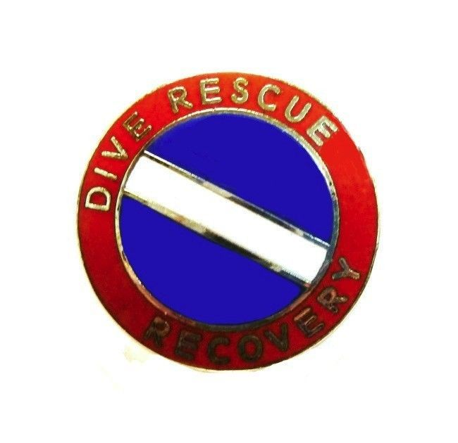 Dive Rescue Recovery Collar Pin Device Diving Team Nickel Scuba Diver Flag 68S2 image 2