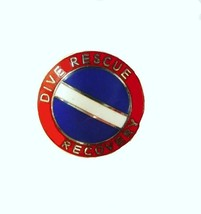 Dive Rescue Recovery Collar Pin Device Diving Team Nickel Scuba Diver Flag 68S2 image 5