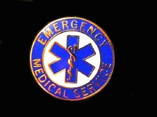 EMS Collar Device Pin Emergency Medical Service Blue Gold Trim Star of Life 54G2 image 5