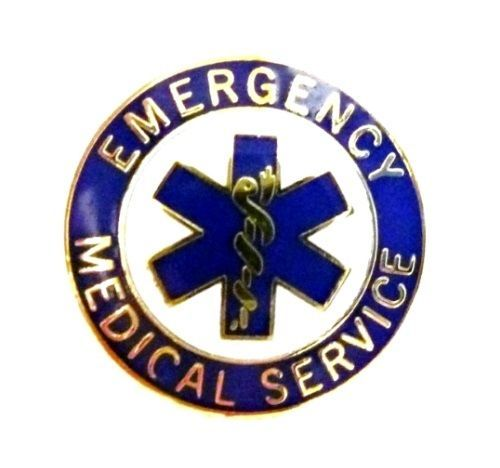 EMS Collar Device Pin Emergency Medical Service Blue Gold Trim Star of Life 54G2 image 7