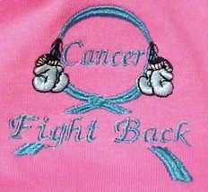 Fight Back Cancer Awareness S Teal Boxing Gloves Hot Pink S/S T Shirt Un... - $21.53
