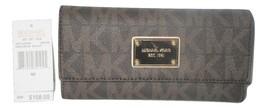 MICHAEL Michael Kors MK Logo Checkbook Wallet, Clutch $158 Brown     - $99.99