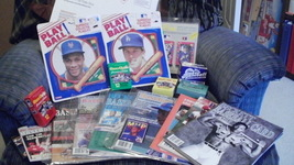 Vintage~Baseball fan package~cards~MLB travel game~Strawberry&Herhiser p... - $27.97