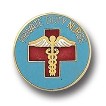 Private Duty Nurse Pin PDN Nursing Medical Insignia Emblem Gold Plated 9... - $13.55