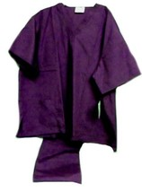 Purple VNeck Top Drawstring Pants SM Unisex Medical Uniforms 2 Piece Scrub Set image 6