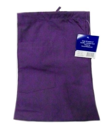 Purple VNeck Top Drawstring Pants SM Unisex Medical Uniforms 2 Piece Scrub Set image 4