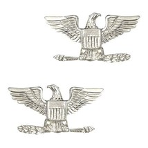 Set of 2 Colonel Eagle Collar Pin Devices US Mi... - $15.81