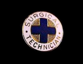 Surgical Technician Medical Insignia Emblem Pin 819 Graduation Gold Plated New image 3