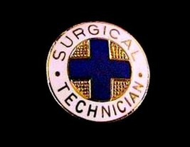Surgical Technician Medical Insignia Emblem Pin 819 Graduation Gold Plated New image 4