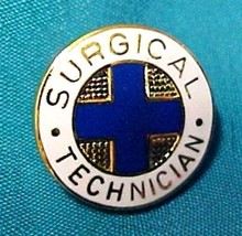 Surgical Technician Medical Insignia Emblem Pin 819 Graduation Gold Plated New image 2