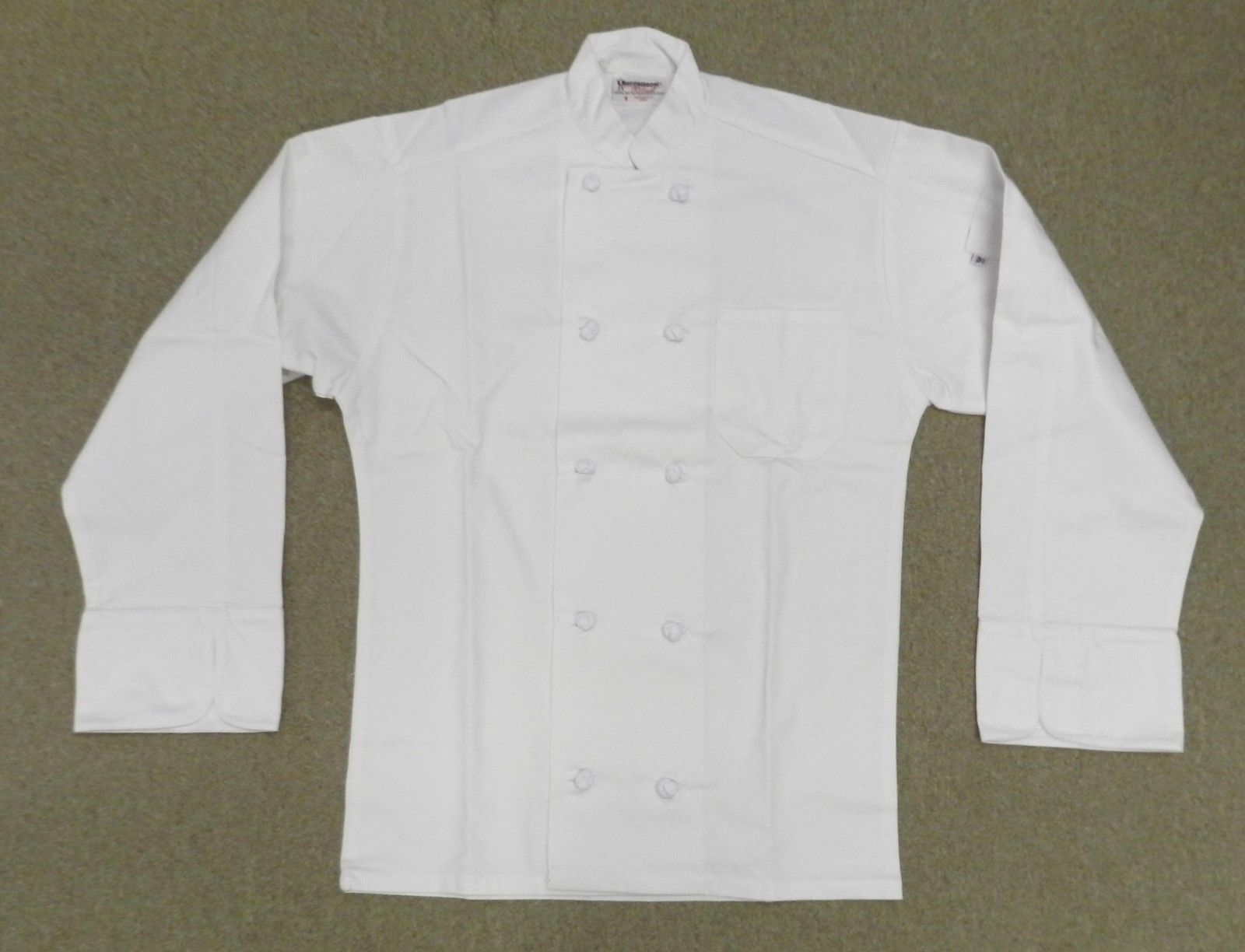 Uncommon Threads 403 Cloth Knot Button Uniform Chef Coat Jacket White XL New