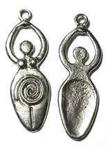 """Goddess Fine Pewter Cast Charm Epoxy Color - ~ Approx. 2 1/8"""" tall  (T246) image 2"""