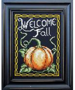 Welcome Fall cross stitch chart Bobbie G Designs - $7.20