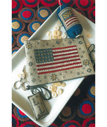 Flag Of Glory Needlebook cross stitch chart Chessie & Me   - $10.80