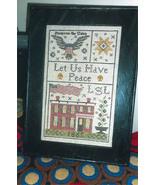 Grant House 1865 Sampler cross stitch chart Chessie & Me   - $10.80