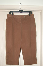 Ann Taylor Loft Brown CATALINA CAPRI SZ 8P Marisa fit - $9.90