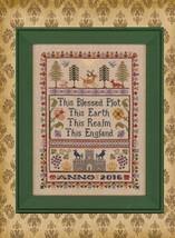 The English Sampler cross stitch chart Elizabeth's Designs  - $9.00