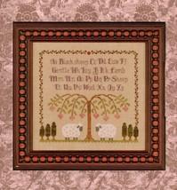 Gentle Lamb Sampler cross stitch chart Elizabeth's Designs  - $9.00