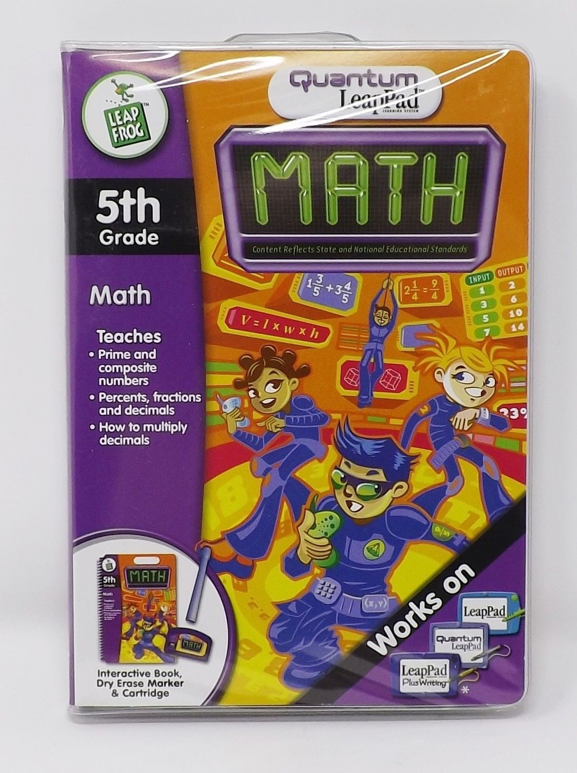 LeapFrog Quantum LeapPad Learning System - New - 5th Grade Math Book - $19.99