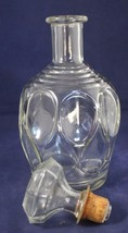 "Decanter Bottle Mid-Century Clear Glass D-126 69  9-1/2"" x 4"" Vintage - $19.80"