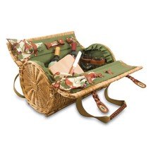 Picnic Time Verona Insulated Wine Basket with Wine/Cheese Service for Tw... - $1.843,01 MXN