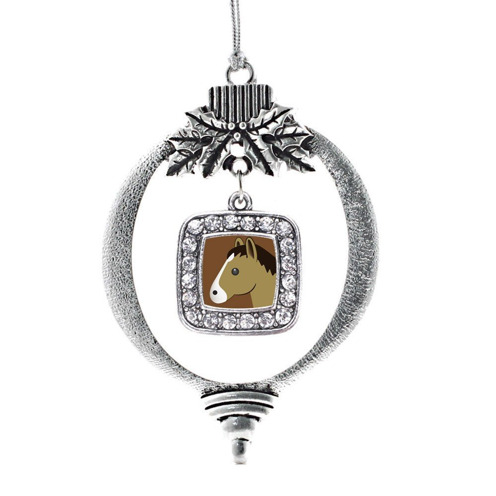 Primary image for Inspired Silver Horse Emoji Classic Holiday Christmas Tree Ornament