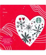 Starbucks 2017 Christmas Heart Mini Collectible Gift Card New No Value - $4.99