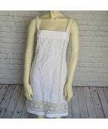 Dolce & Gabbana | Size IT 38 White Silk Lace Summer Short Dress Strap Sl... - $345.51