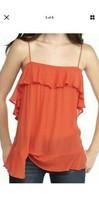 Free People Cascades Ruffle Red Orange Cami Tank Top Size SSmall Nwt - $14.25