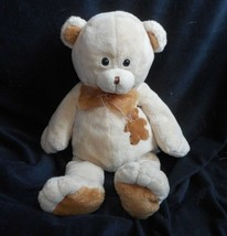 "13"" 2002 WISHPETS CREME / TAN GAGE TEDDY BEAR STUFFED ANIMAL PLUSH TOY L... - $26.30"