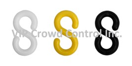 S-HOOK, PLASTIC, VIP CROWD CONTROL, 12 PCS SET - $9.99