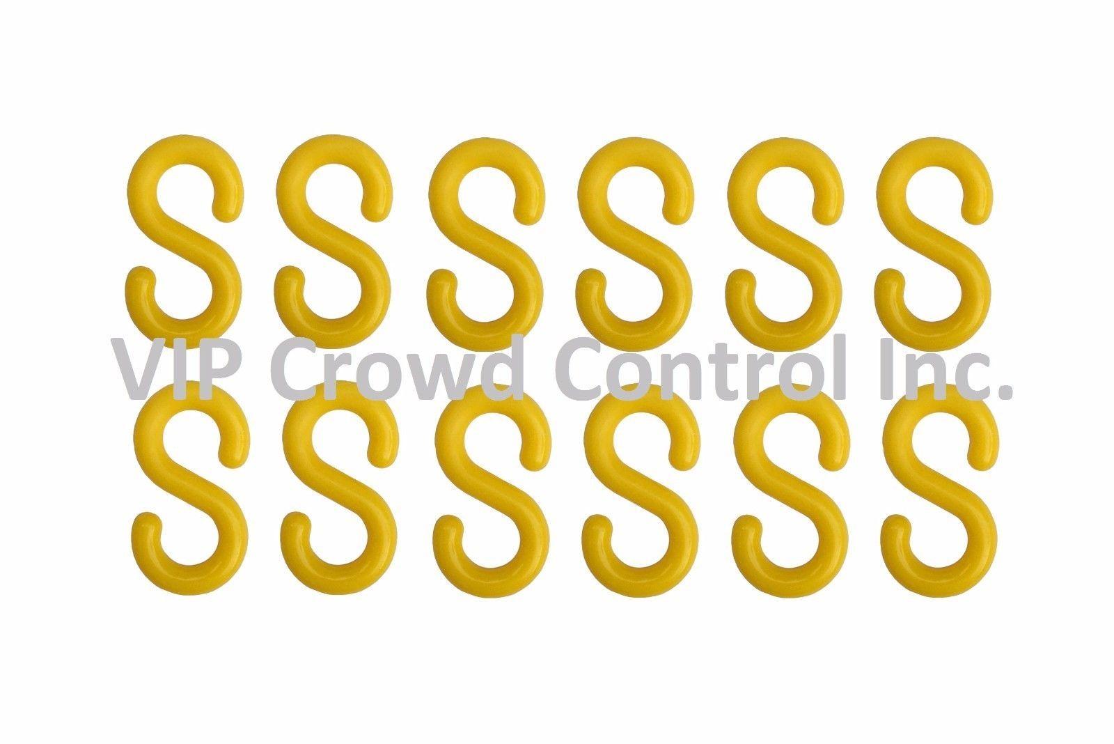 S-HOOK, PLASTIC, VIP CROWD CONTROL, 12 PCS SET