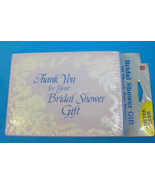 Thank You for Bridal Shower Gift Cards & Envelopes Florall Design 10 Pack - $6.50