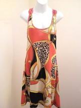New Just Love Juniors L Dress Orange Crochet Racer Back Sexy Sundress Wo... - $19.58