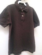 Gap Boys M 8 Polo Shirt Brown Short Sleeve School - $8.79