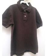 Gap Boys M 8 Polo Shirt Brown Short Sleeve School - $8.79