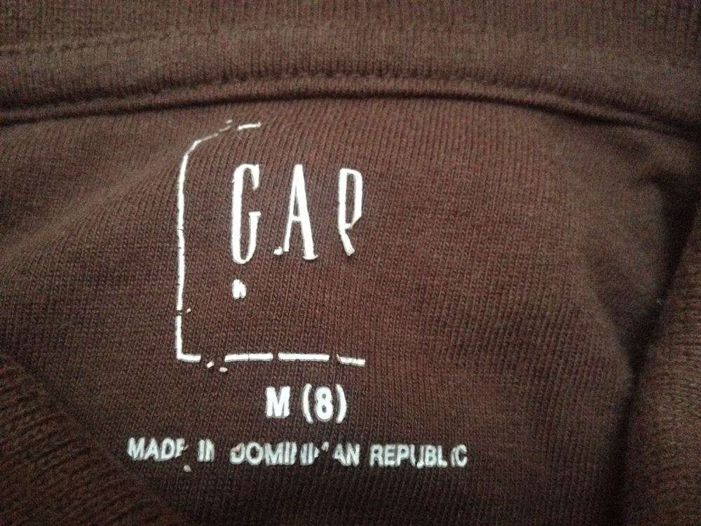 Gap Boys M 8 Polo Shirt Brown Short Sleeve School image 3