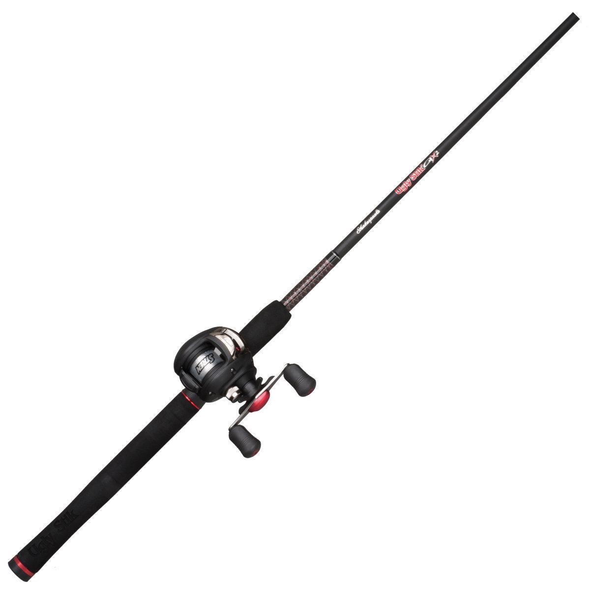 Fishing rod reel baitcast combo shakespeare ugly stik for Fishing pole combo