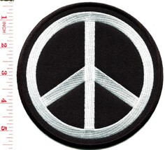 Peace sign hippie retro boho love applique iron-on patch BIG 5.25 inches... - $5.93