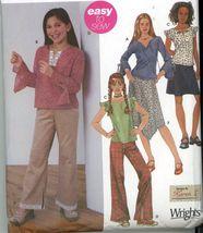 Simplicity 5484 Girls Blouse Kimono Sleeve Top Skirt Pants Sz 7-8-10 Uncut - $2.00