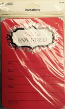 "Carlton Cards 10 Red Invitations with Silver Envelopes ""You're Invited"" - $3.22"