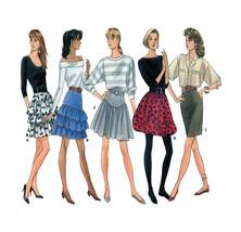 Butterick 5907 Tiered, Drop Waist, Puffy, Pencil Skirt - Size 12-16 UNCUT - $5.50