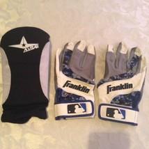 Youth medium Franklin batting gloves   1 All Star knee pad bundle - $17.29