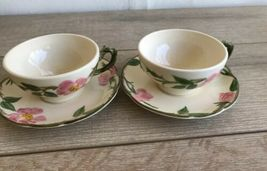 Set 6 Franciscan Desert Rose Tea Cups and Saucers Made in USA image 5