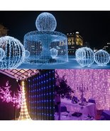 3Mx3M 300 LED White Bulb Fairy String Light Curtain Lamp Wedding Party W... - $31.98
