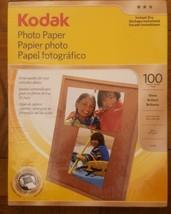 "Kodak Photo Paper 100 sheets 8.5"" x 11"" New Gloss Brillant - $16.00"